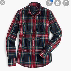 J. Crew Factory perfect shirt in Stewart plaid